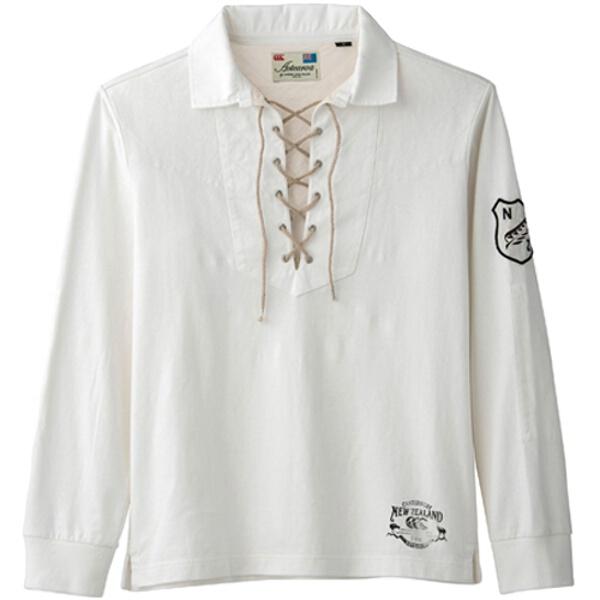 【カンタベリ―】 L/S ラガーシャツ [カラー:オフホワイト] [サイズ:XL] #RA44054 【スポーツ・アウトドア:その他雑貨】【CANTERBURY】