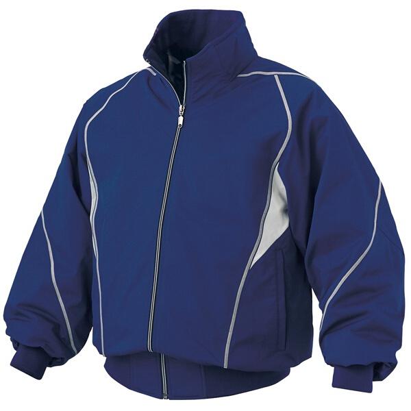【デサント】 野球用 グラウンドコート DR-208 [カラー:ロイヤルブルー×シルバー] [サイズ:XO] #DR-208 【スポーツ・アウトドア:野球・ソフトボール:ウェア:グランドコート】【DESCENTE】