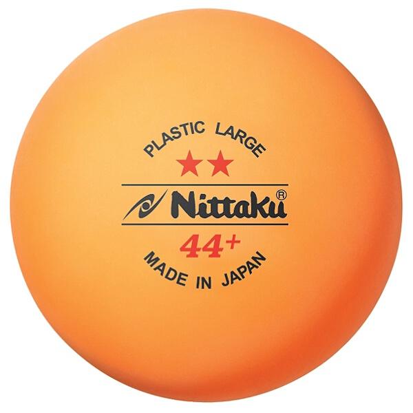 【ニッタク】 ラージボール 2スタ― プラ44 卓球ラージボール 練習球 #NB-1032 2ダース入り(24球) 【スポーツ・アウトドア:卓球:ボール】【NITTAKU】