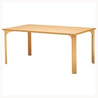 天童木工 T-2523MP-NT テーブル メープル/ホワイトビーチ (ナチュラル)