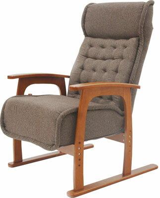 ヤマソロ コイルバネ高座椅子【紅葉】 83-805 ブラウン(代引対象外)