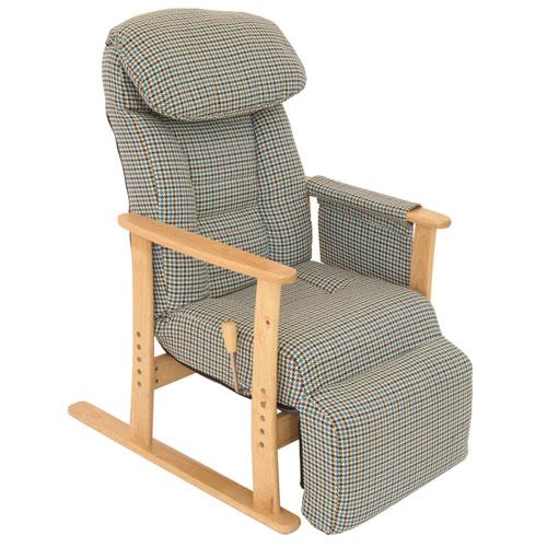 ヤマソロ フットレスト付高座椅子【梢】(こずえ) 83-818 グリーン (代引対象外)