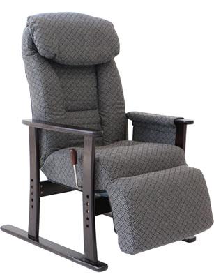 ヤマソロ フットレスト付高座椅子【梢】(こずえ) 83-835 グレー (代引対象外)