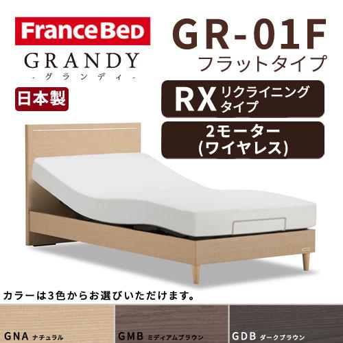 【フレームのみ】【開梱設置無料】フランスベッド グランディ GR-01F RX(リクライニングタイプ) 2モーター ワイヤレス セミダブルサイズ(M)【代引き不可】