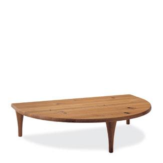 飛騨産業 森のことばシリーズ 半円形リビングテーブル SN105RT キツツキマーク