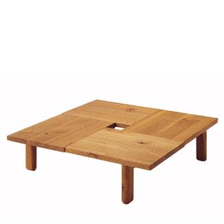 飛騨産業 森のことばシリーズ 正方形フロアテーブル(120角)SN161T キツツキマーク