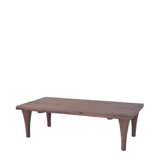 飛騨産業 森のことばWalnutシリーズ 長方形リビングテーブル(ハイタイプ) SW107H キツツキマーク