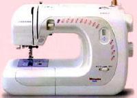 【在庫・納期お問合せ下さい】カラー糸セットおまけ付ジャノメ 水平釜電子ミシン マリエッタ7070