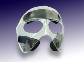 スポーツ用顔面保護マスク 透明マスク1(ハーフタイプ)