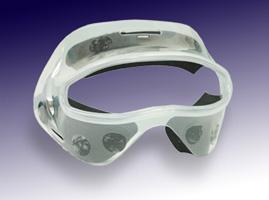 スポーツ用顔面保護マスク 透明マスク2(ハーフタイプ)