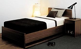 Bed-1 80×200 2台セット Floorbedタイプ 20cmコンビマットレス付 (80cm×2台、クイーン相当)