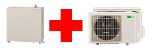 エコヌクールレオパワフルタイプ ヒートポンプ 熱源機 セット 凍結防止ヒーター付