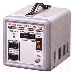 SANYO步降低穿過(壓變器)220/240V→100V 1500W型TSD-N15LES