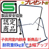 【プレゼント有り】日本製 安心のSGマーク付き スーパー鉄棒65 子供用鉄棒屋内・室内 耐荷重65kg 家庭用 FM-1544 屋外利用可 ブルー/ブラック
