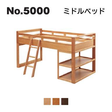 浜本工芸 2020年モデル No.5000 ベッドシリーズ ミドルベッド No.5004/5000/5008 ◆開梱設置無料 ◆代引き不可