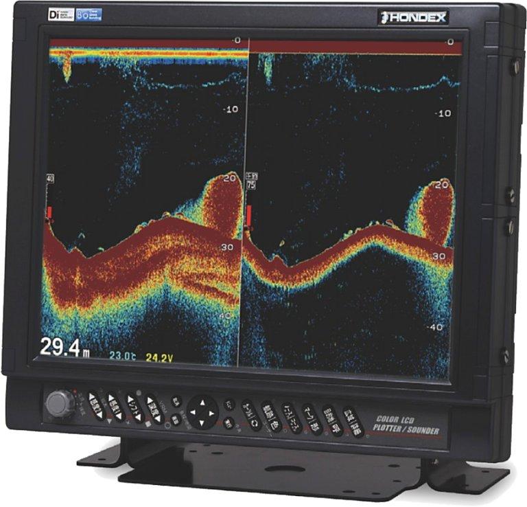ホンデックス (HONDEX) デジタル魚群探知機 HE-1511F-Di-Bo 15型高輝度XGA液晶 出力5kW 周波数36/65、40/75、28/55kHz