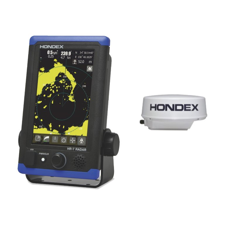 ホンデックス (HONDEX) 小型船舶用レーダー HR-7(5) 空中線1.5ft仕様 タッチパネル付7型ワイド液晶搭載