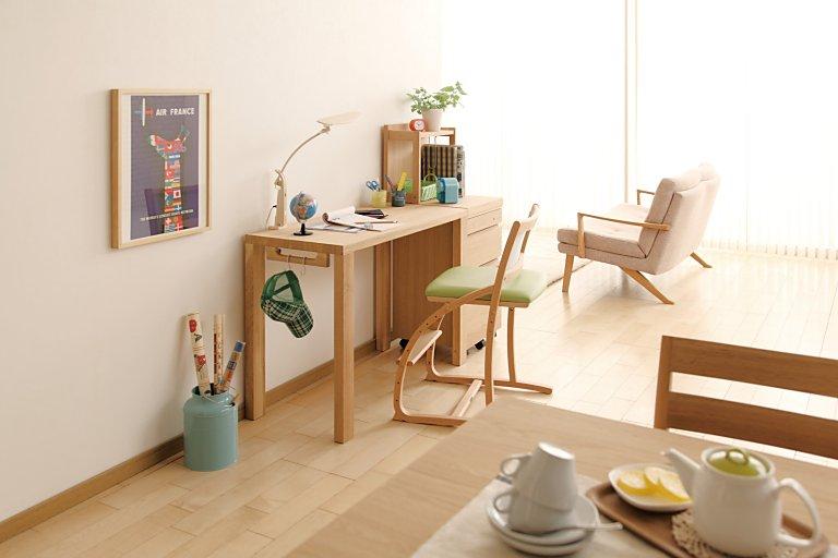 カリモク家具 Buona scelta 学習机5点セット ボナシェルタ(100cm幅デスク ST3087ME、デスクチェア XT2401GE、ブックスタンド AT057BME、ワゴン ST0056HME、スタンドライト KS0152SE)