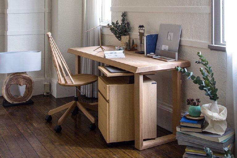 カリモク家具 Legnotta 学習机3点セット レグノッタ(150cm幅デスク SW5000E000、ワゴン SS0466ME、デスクチェア XF4001E000)