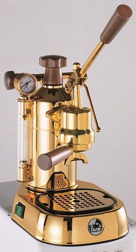 【2020年8月下旬頃入荷予定】【正規輸入品】パボーニ プロフェッショナル PDH 18金メッキ Pavoni エスプレッソコーヒーマシン ラパボーニ la Pavoni