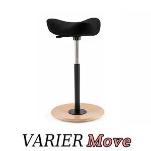 VARIER カウンターチェア バーチェア Move ムーブチェア 座面は黒、木部はアッシュナチュラル ヴァリエール バランスチェア ストッケ