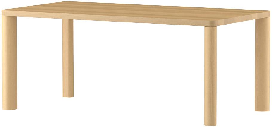 MARUNIマルニ n(エヌ)ダイニングテーブル(ムク天板)No.1566-93-0170【張地変更ご相談下さい】
