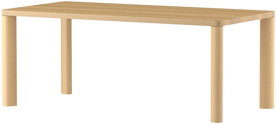 MARUNIマルニ n(エヌ)ダイニングテーブル(ムク天板)No.1566-93-0180【張地変更ご相談下さい】