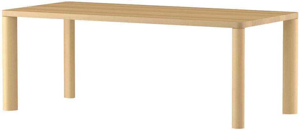MARUNIマルニ n(エヌ)ダイニングテーブル(ムク天板)No.1566-93-0190【張地変更ご相談下さい】
