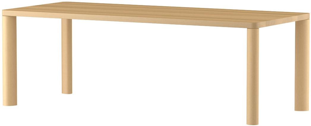 MARUNIマルニ n(エヌ)ダイニングテーブル(ムク天板)No.1566-93-0210【張地変更ご相談下さい】