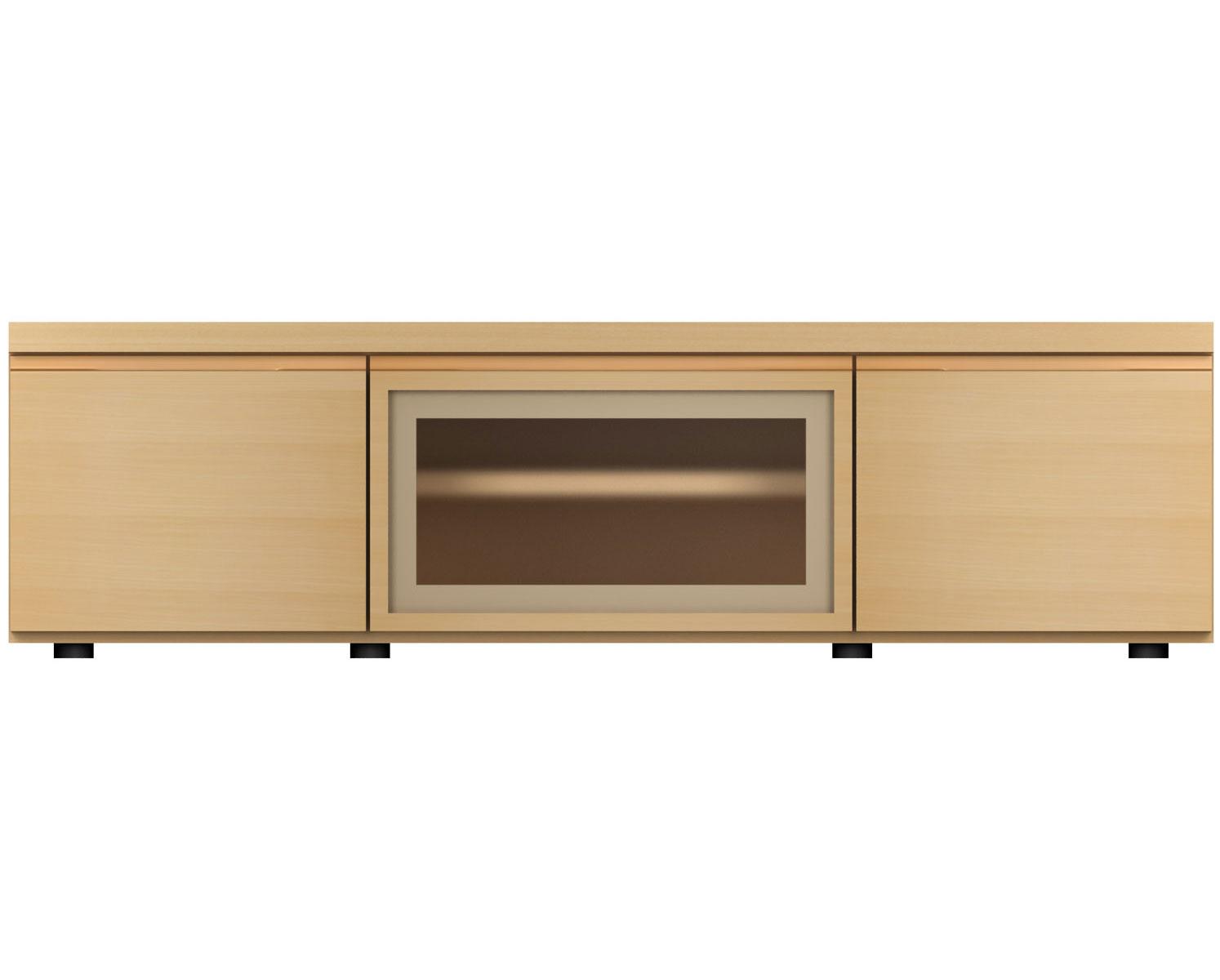 MARUNIマルニ F-UNIT(ビーチ) TVボード/ガラスF/W120No.6994-34-0000