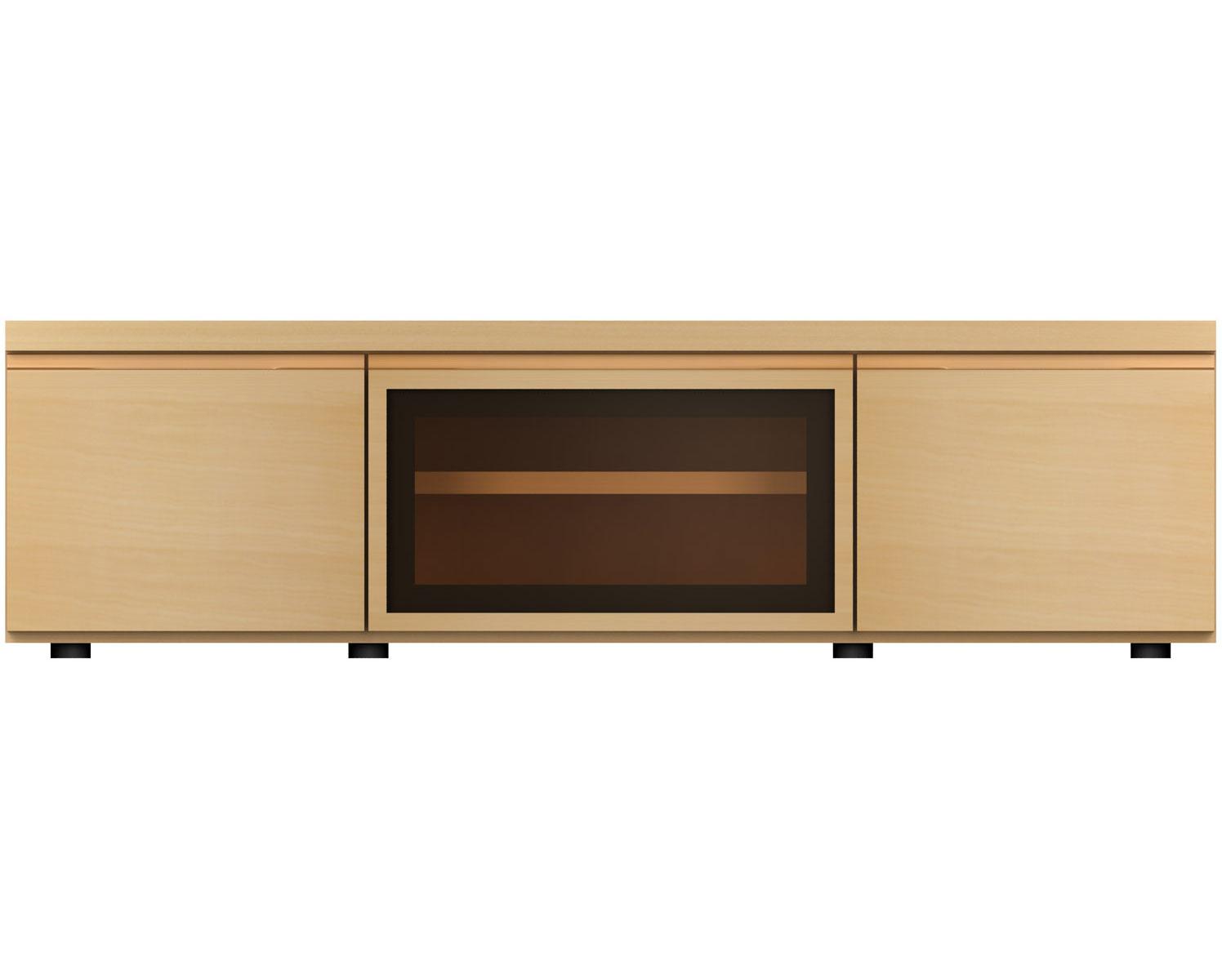 MARUNIマルニ F-UNIT(ビーチ) TVボード/ガラスB/W120No.6996-34-0000
