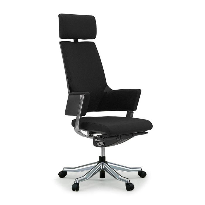 MERRYFAIR(メリーフェア) DELPHI2(デルフィ2) オフィスチェア ファブリック ハイバック (ヘッドレスト付) ブラック 137101