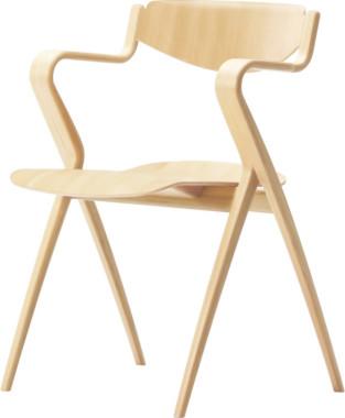 天童木工 T-3250WB-NT アームチェア ホワイトビーチ材 (ナチュラル) 【受注生産のため約1か月~】【代引対象外】