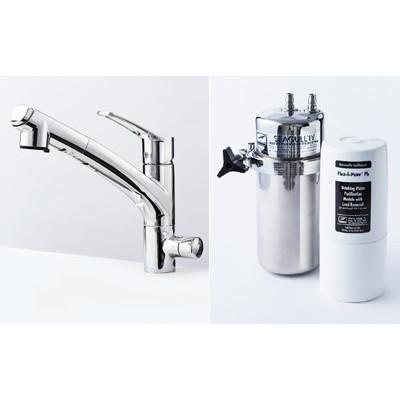 Seagull IV シーガルフォー浄水器 兼用水栓ハンドシャワータイプ X1-KA1402-FPb 溶解性鉛除去