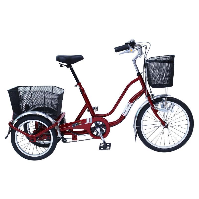 ミムゴ ノーパンク三輪自転車 SWING CHARLIE911(スイングチャーリー911) MG-TRW20NE ワインレッド【代引き・時間指定不可】