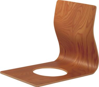 天童木工 座イス S-5046KR-KB ケヤキ杢目(KB色) スタッキング可能【代金引換対象外】