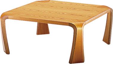 天童木工 座卓 T-0263KY-NT ケヤキ板目 (ナチュラル)