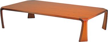 天童木工 T-0373KY-KB 座卓 ケヤキ板目 (KB色)