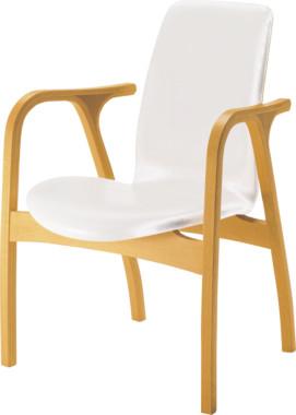 【現在納期2か月】天童木工 アントラー アームチェア T-5039NA-ST(ST色) 張地グレードS(合成皮革)