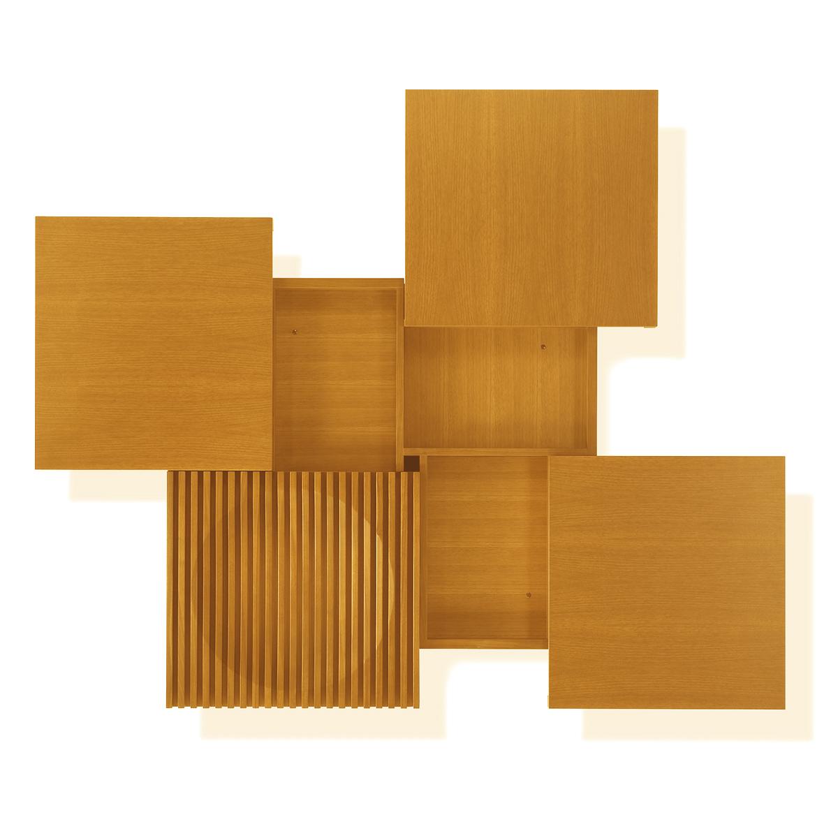 CONDE HOUSE(カンディハウス) BARRINGER(バリンジャー) スライドテーブルCR 120x120 ナラ材 NNF/NBB