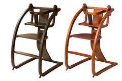バンビーニ+ベビーセット STC-05 ダークブラウン/ライトブラウン SDI Fantasia Bambini+Babyset 佐々木デザイン 日本製 木馬にもなる子供イス チェア