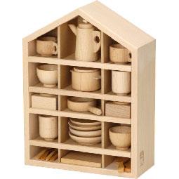 河合楽器製作所 8021 セレクトシリーズ ままごとあそびハウスセット (くみあわせてあそぶ) 木の玩具