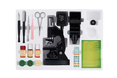 【送料無料】ビクセン 顕微鏡 学習用顕微鏡セット ミクロショット600 ミクロショットシリーズ 21202-6【代金引換不可】