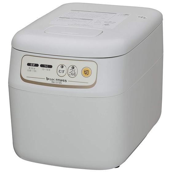 エムケー精工 餅つき機 かがみもち RM-101SN 5合~1升 送料無料 蒸し/つき/こねタイプ