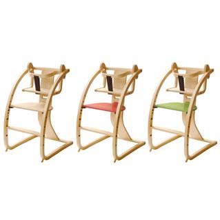 バンビーニ+ベビーセット ナチュラル STC-02 SDI Fantasia Bambini+Babyset 佐々木デザイン 日本製 木馬にもなる子供イス チェア 座面カラーはナチュラル・赤・緑・ダークブラウンから選べる4色