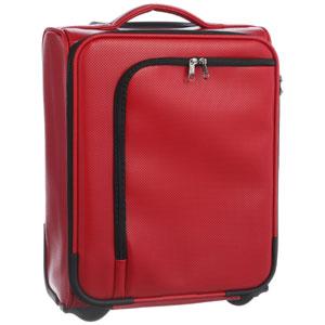 HIDEO WAKAMATSU キャリーケース アイラ TSAカードロック 送料無料 85-76033 レッド18リットル 機内持ち込み適合サイズ パンチングレザー調 ヒデオワマカツ hideo design
