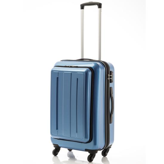キャリーケース スポットフロントオープン 送料無料 約44リットル キャビンサイズ マンハッタンエクスプレス ブラック ブルー レッド TSAロック搭載