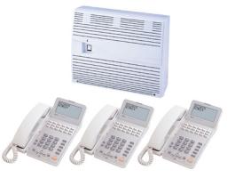 【設置工事付き】NTT αGX-S スター主装置 18ボタン標準スター電話機(ホワイト) 3台セット 【ビジネスホン・業務用電話機】【お買い得!】