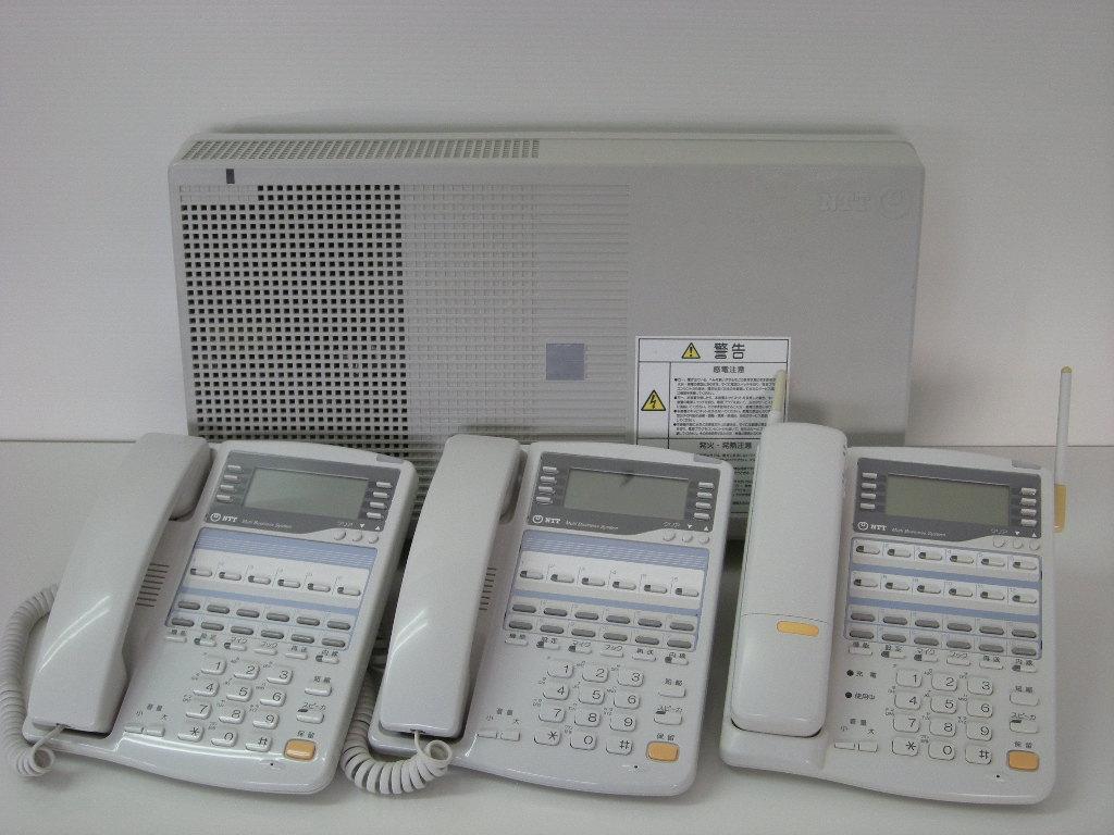 【設置工事付き】NTT RX2 標準電話機2台+カールコードレス電話機1台セット 【ビジネスホン・業務用電話機】【お買い得!】