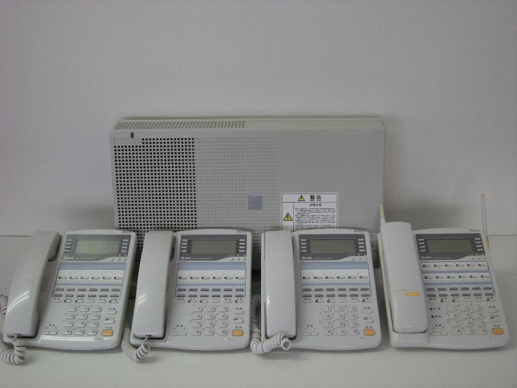 【設置工事付き】NTT RX2 標準電話機3台+カールコードレス電話機1台セット 【ビジネスホン・業務用電話機】【お買い得!】